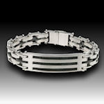 316 Stainless Steel with Black Cable wire  8.5inL 13mm w/ Double clasp