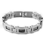 316 Stainless Steel with stranded cables 8.5inL 14.5mmW 3.5mmH High polish clasp closure