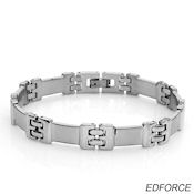 8240 $38 Ed force stainless steel 37.g fold over clasp 11mm wide 8.5in long 3.mm deep