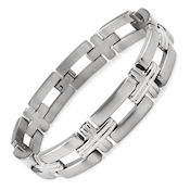 8243 $40 Titanium  Bracelet, 32g 12mm wide, 8in long, 4mm deep, with a fold over clasp