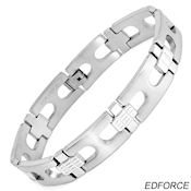 8244 $ 30 Ed force stainless steel 8.75 in long, fold over clasp