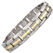 8256 $100 titanium with a gold plated band down the center, 36.5g 12mm wide, 9in long