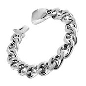 8270 $70 316L Stainless steel link style bracelet, 13.15mm face 4.44 thick 8.5 long