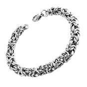 8272 $27 316L Stainless Steel Woven bracelet, 7.89mm Dia, 9in long
