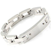 8277 $55 316 Stainless steel ID Bracelet, 8.5 long, 11mm wide ID Section 5mmm thick