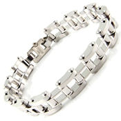8278 #50 316L Stainless steel, high Shine polish, 8.74in long, 12mm wide 5mm high, fold over clasp