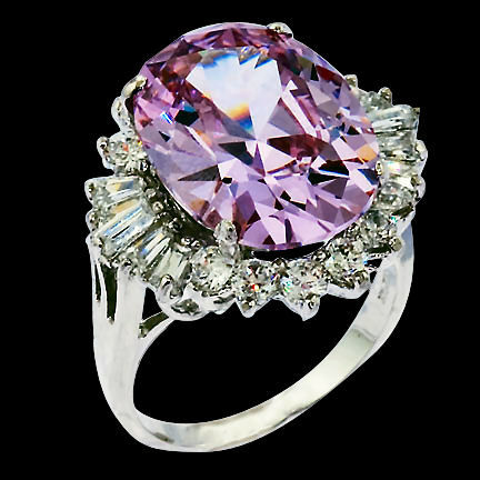 This Amethyst and CZ ring is admired by royalty. Over the edge of elegant this sterling silver ring will leave you breathless