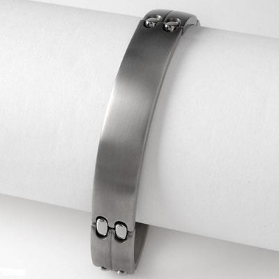 Exclusive, quality, magnificent, what can I say about this  Titanium bracelet. He will want this
