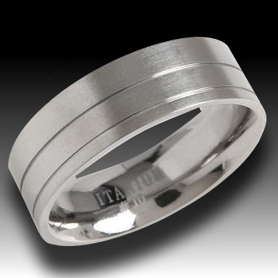 Fashionable Titanium mens rings diamonds are forever, Titanium is forever also