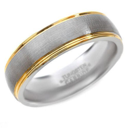Magnificent, pure sexy Tungsten two tone ring 11g what a shine