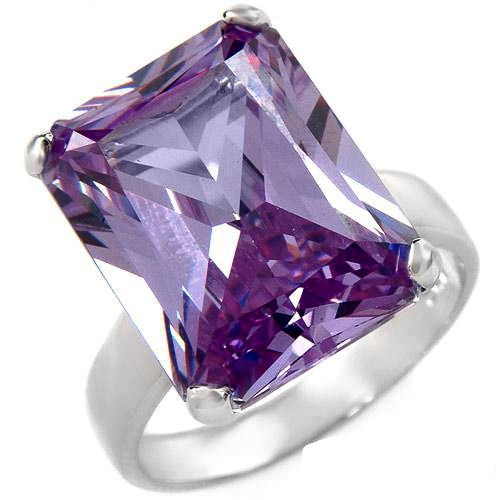 This pale purple 17.82ctw stone is breathtaking on the simple side of elegance .925 solid Sterling Silver 7.8g